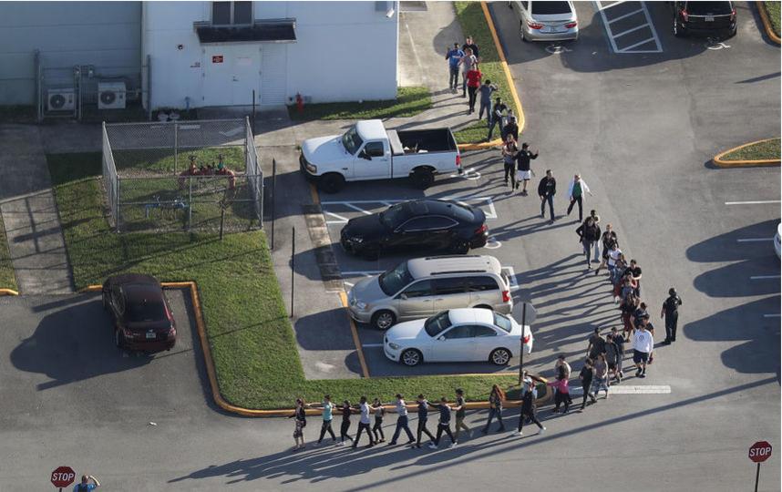Стрельба произошла в школе города Паркленд во Флориде 15 февраля. Фото Getty