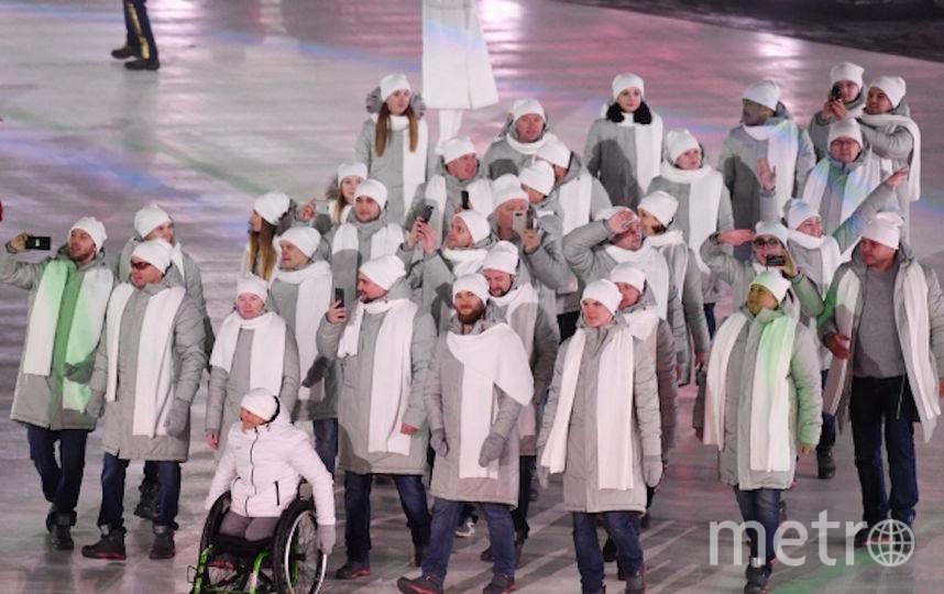 Российская делегация на церемонии открытия Паралимпиады. Фото РИА Новости