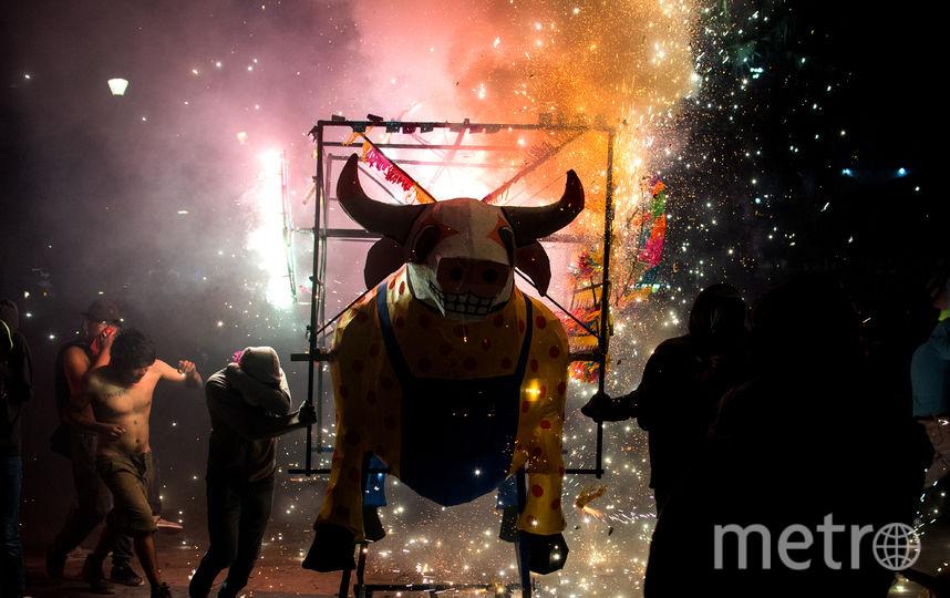 Традиционный пиротехнический фестиваль в Тультепеке. Фото AFP
