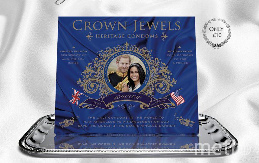 Презервативы с британским гимном выпустят к свадьбе принца Гарри. Фото Скриншот https://www.crownjewelscondoms.co.uk/