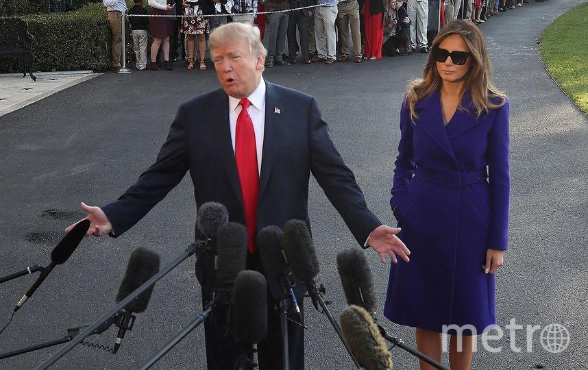 Мелания Трамп достойно держится рядом с мужем. Фото Getty