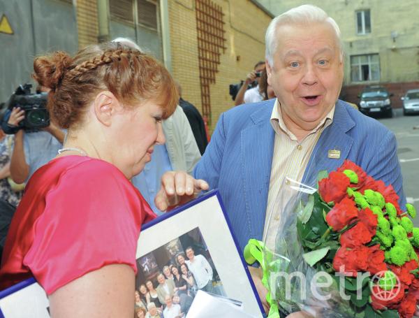Художественный руководитель МХТ имени А.П.Чехова Олег Табаков на церемонии празднования своего 75-го юбилея, 2010-й год. Фото РИА Новости