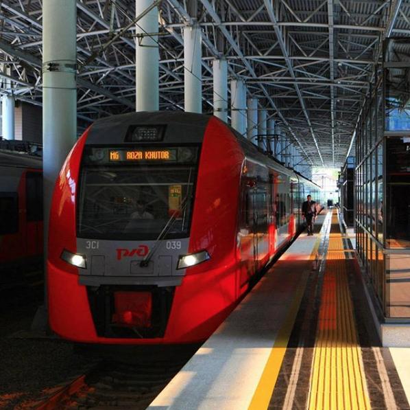 "Поезд ""Ласточка"". Фото Скриншот Instagram: mikhail.novgorod"