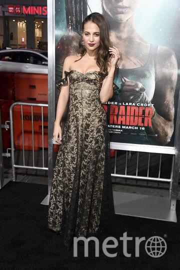 """Премьера нового фильма """"Tomb Raider: Лара Крофт"""". Алисия Викандер. Фото Getty"""