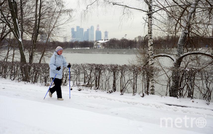 Один из самых популярных направлений проекта – занятия по скандинавской ходьбе. Фото РИА Новости