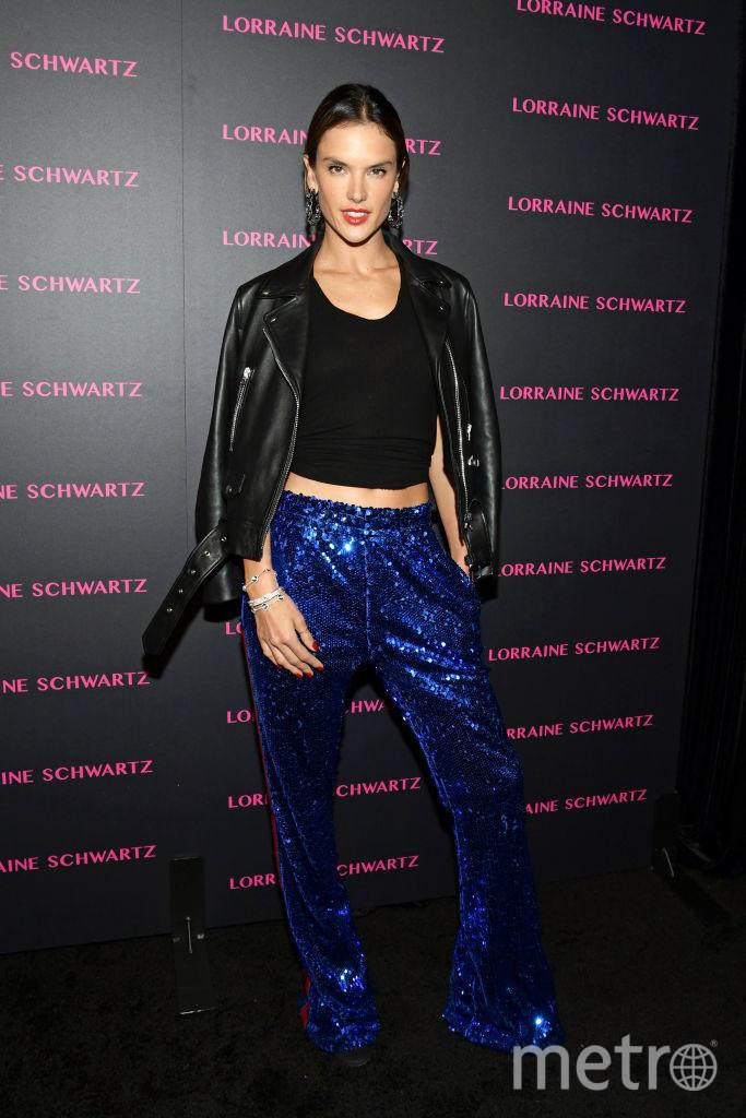 Алессандра Амбросио, модель Victoria's Secret. Вечеринка у голливудского ювелира Лоррейн Шварц. Фото Getty