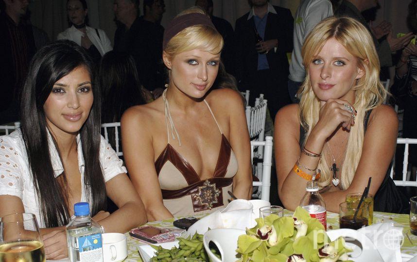 Ким Кардашьян, Пэрис и Ники Хилтон в 2007 году. Фото Getty