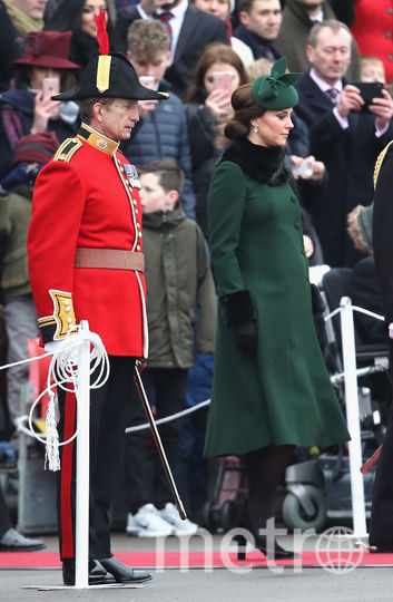 Беременная Кейт Миддлтон и принц Уильям появились на параде в честь Дня Святого Патрика. Фото Getty