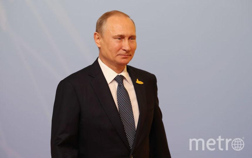 Владимир Путин проголосовал на вбыорах - 2018. Фото Getty