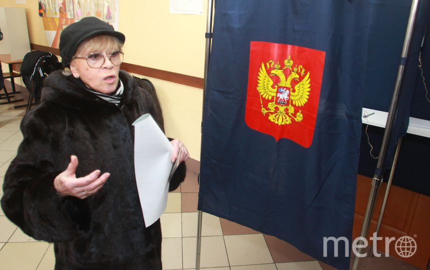 Алиса Фрейндлих на выборах президента - 2018. Фото Интерпресс