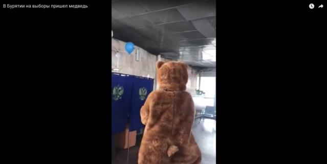 А ещё пришёл медведь.