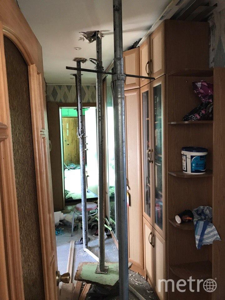 Фото из дома на Народного Ополчения. Подпорки в пострадавших квартирах. Фото предоставлено жильцами дома № 219
