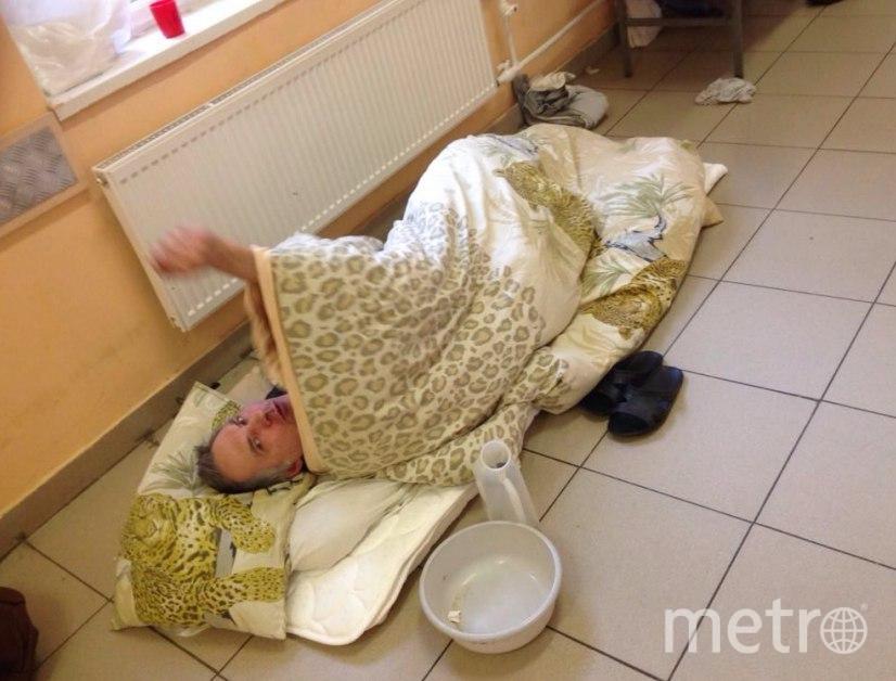 В петербургской больнице пациентов кладут на пол: Фото. Фото t.me/nechay