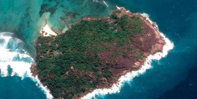 Остров Раунд на карте.