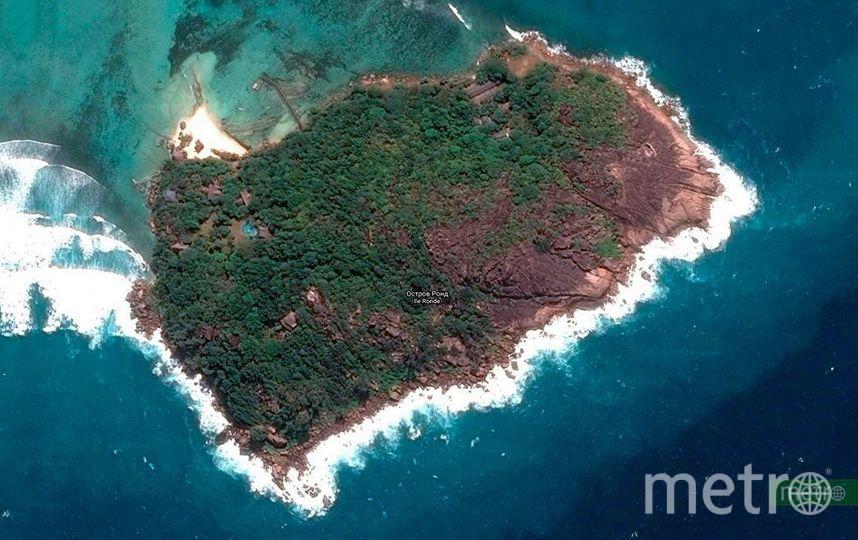 Остров Раунд на карте. Фото www.google.com/maps