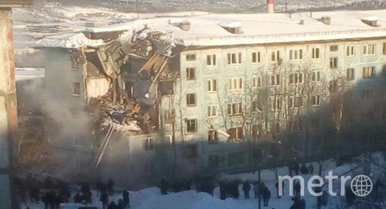 Обрушился дом в Мурманске. Фото https://web.telegram.org/#/im?p=@breakingmash