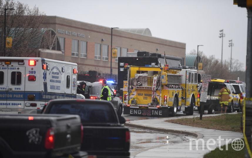 Стрельба в школе Great Mills в округе Сент-Мэрис произошла во вторник утром. Учебное заведение после инцидента было закрыто. Фото AFP