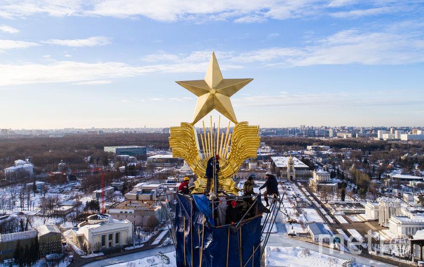 31 метр составляет высота шпиля Центрального павильона. Фото предоставлены пресс-службой ВДНХ | mos.ru