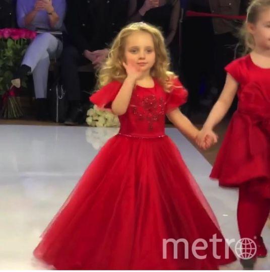 Дочь Татьяны Навки. Детский показ мод в рамках Недели Моды в Гостином дворе в Москве. Фото Instagram