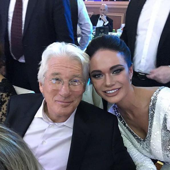 Яна Кошкина и Ричард Гир. Фото Скриншот Instagram: yana_koshkina_official