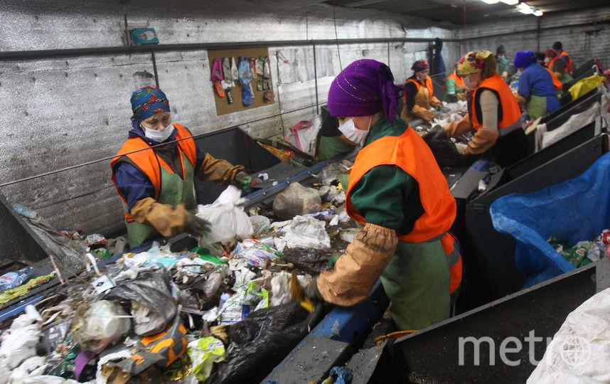 Сортировщики выбирают полезный мусор вручную, потому что техника не может справиться с этой задачей. Фото Василий Кузьмичёнок