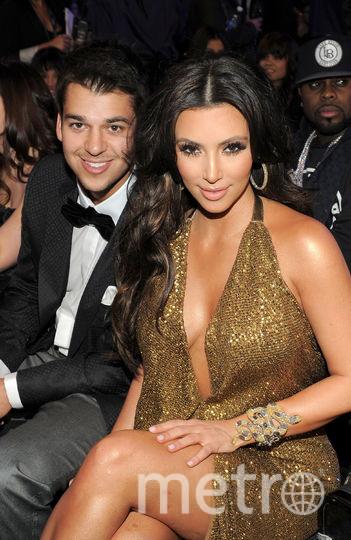 Ким и Роб Кардашьян. Фото Getty