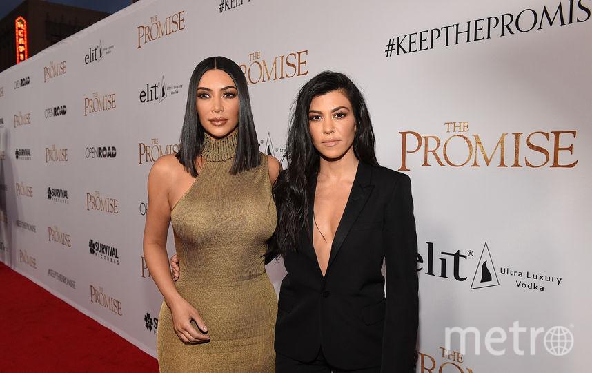 Ким и Кортни Кардашьян. Фото Getty