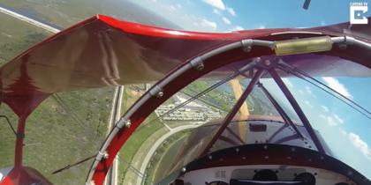 В США пилоту удалось запустить отказавший двигатель в нескольких метрах от земли. Видео