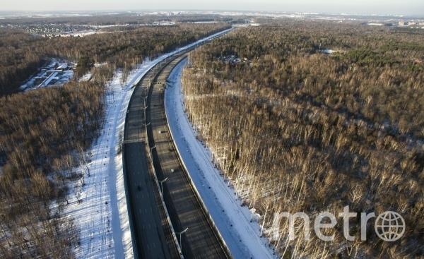 Участок платной дороги М-11 Москва - Санкт-Петербург в Московской области. Фото РИА Новости