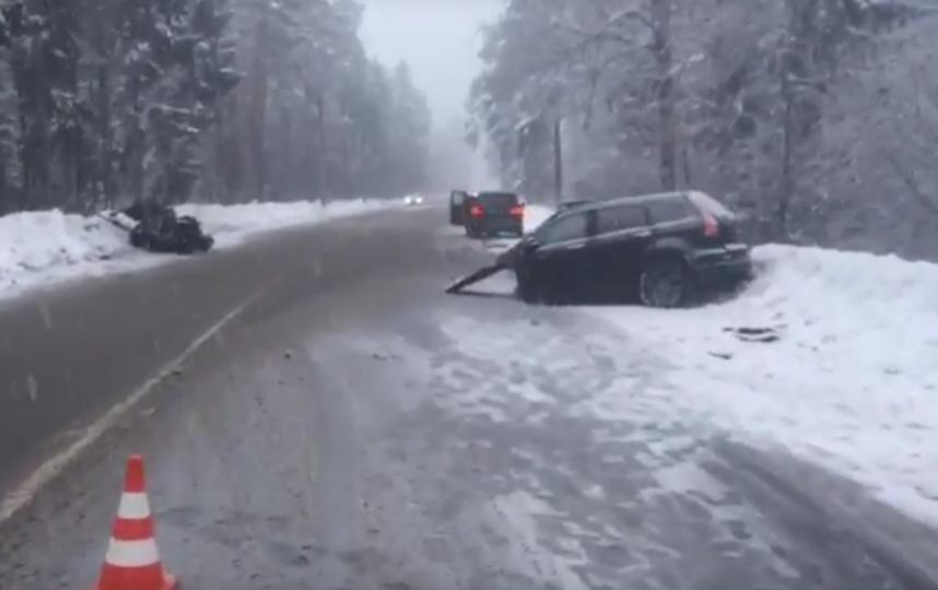 НаПриморском шоссе случилось  серьезное ДТП