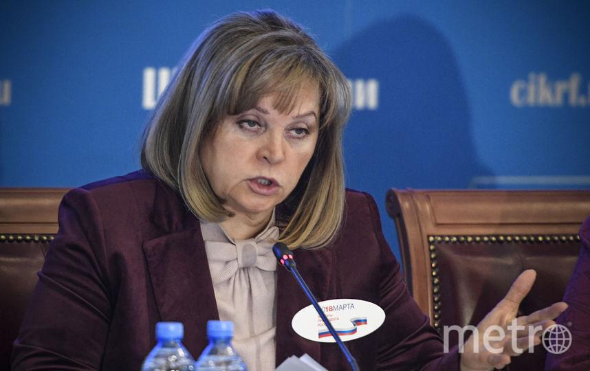 Председатель ЦИК Элла Памфилова. Фото AFP