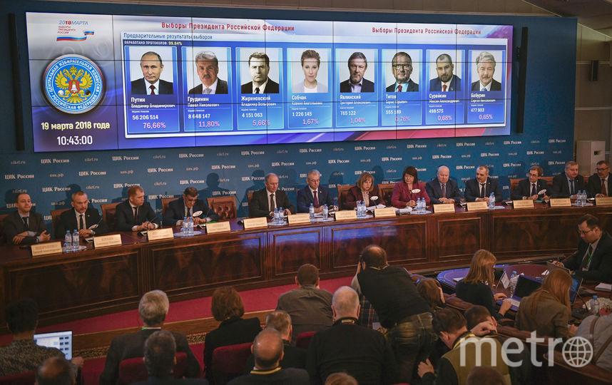 В России подвели итоги выборов президента-2018. Фото AFP