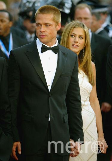 Брэд Питт и Дженнифер Энистон в 2004 году на Каннском фестивале. Фото Getty