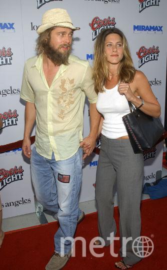 Брэд Питт и Дженнифер Энистон, 2002 год. Фото Getty