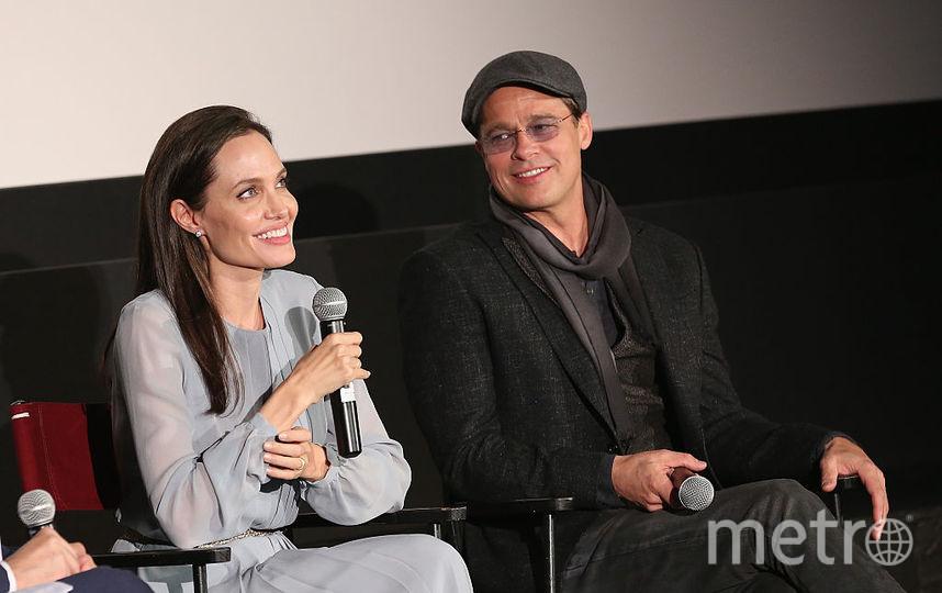 Анджелина Джоли и Брэд Питт в 2015 году в Нью-Йорке. Фото Getty