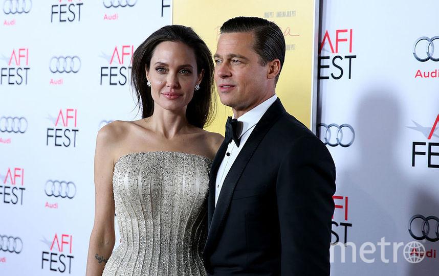 Анджелина Джоли и Брэд Питт в 2015 году. Фото Getty