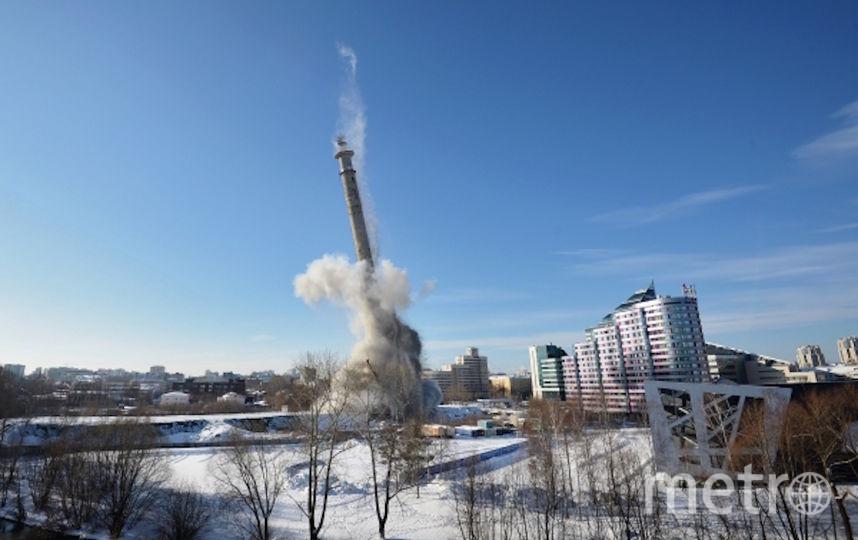 Снос телебашни. Фото РИА Новости