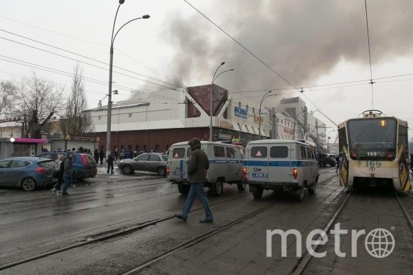 Пожар в торговом центре «Зимняя вишня» в Кемерово. Фото РИА Новости