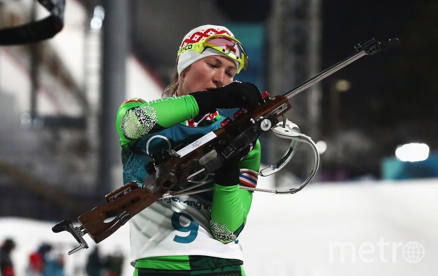 Белорусская биатлонистка Дарья Домрачева. Фото Getty