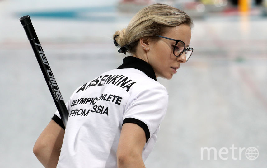 Член сборной России по кёрлингу Галина Арсенькина. Фото Getty