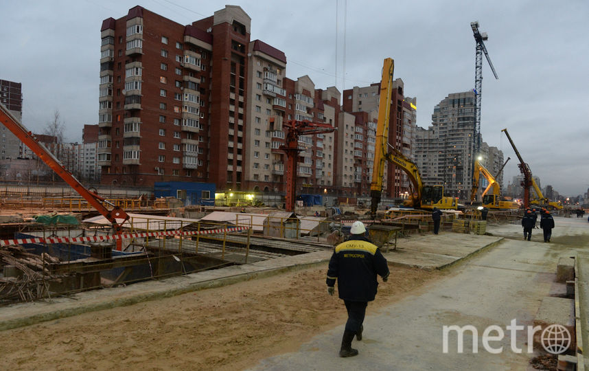 """Строительство """"Новокрестовская"""" - """"Беговая"""". Фото АРХИВ, """"Metro"""""""
