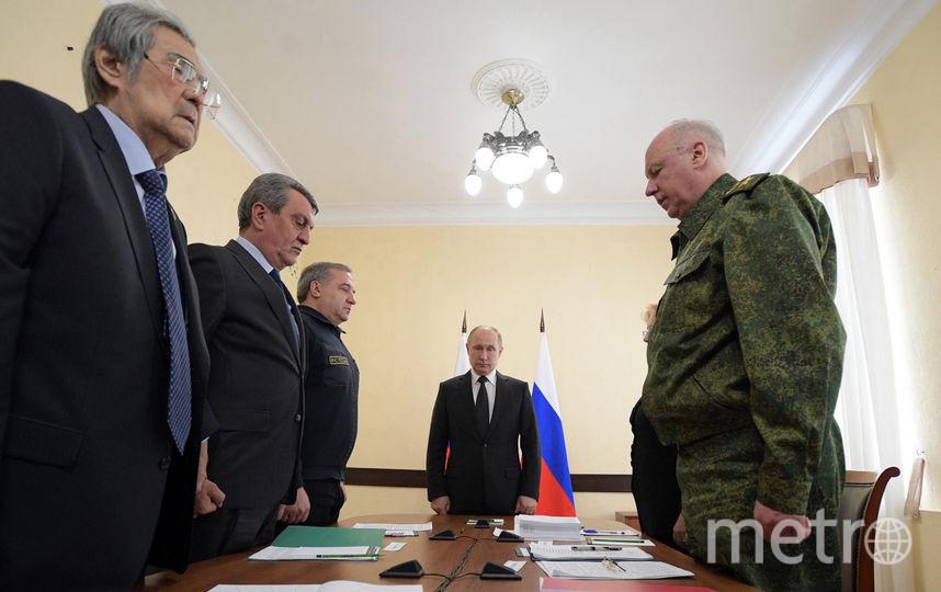 Президент России Владимир Путин рано утром 27 марта прилетел в Кемерово. Фото AFP