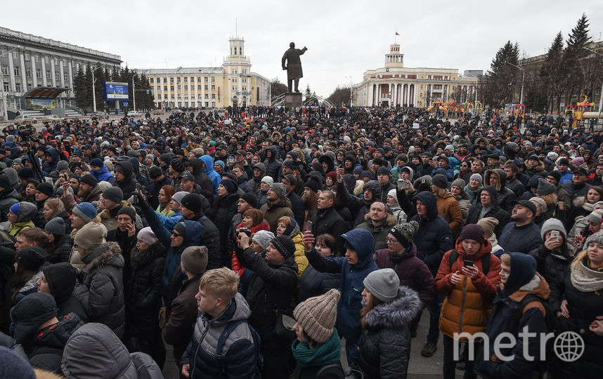 """По официальным данным, жертвами пожара в кемеровском ТЦ """"Зимняя вишня"""" стали 64 человека. Фото AFP"""
