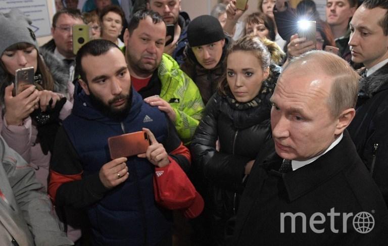 Путин приехал в Кемерово. Фото AFP
