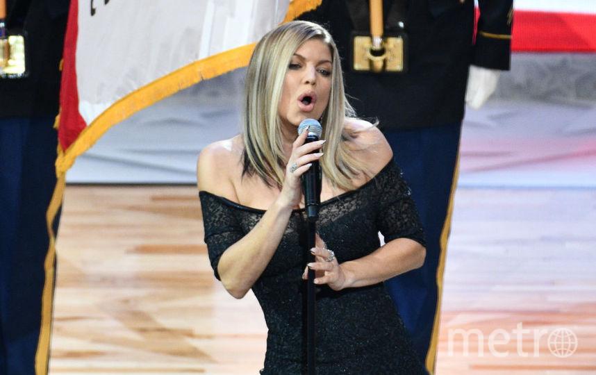 Ферги исполнила гимн США перед Матчем звезд НБА, 2018 год. Фото Getty