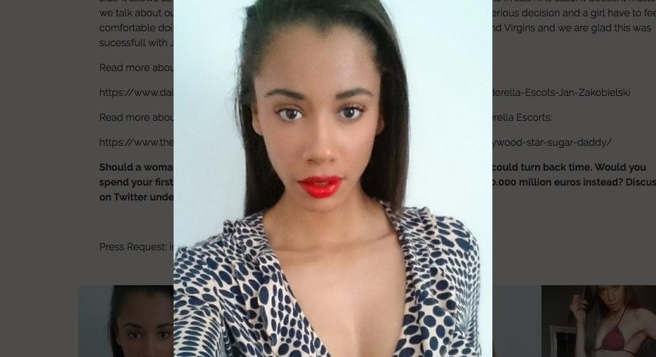 Британская студентка Жасмин. Фото Скриншот www.cinderella-escorts.com/en/sedcard/jasmin1