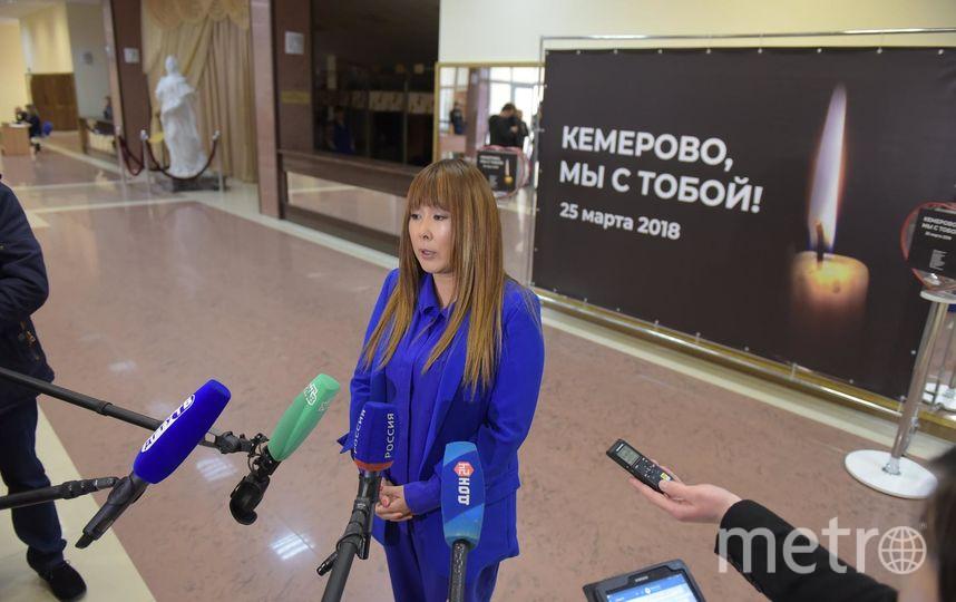 Анита Цой рассказала журналистам о благотворительной акции в поддержку пострадавших в Кемерово. Фото Фото - пресс-служба ДГТУ, Предоставлено организаторами