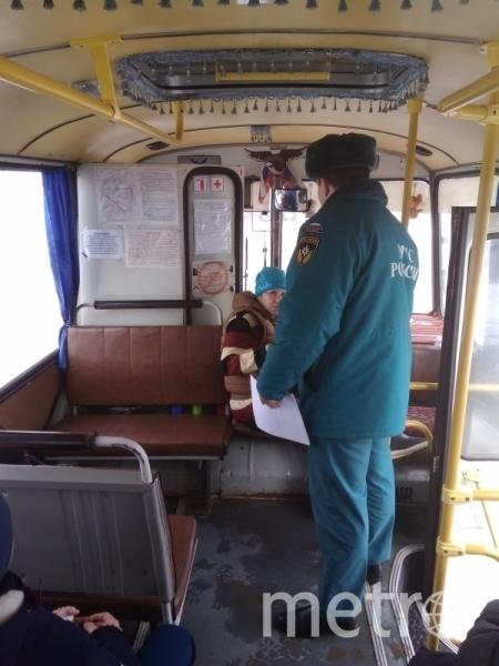Во Владимире загорелся автобус с журналистами, ехавшими на проверку ТЦ. Фото http://33.mchs.gov.ru