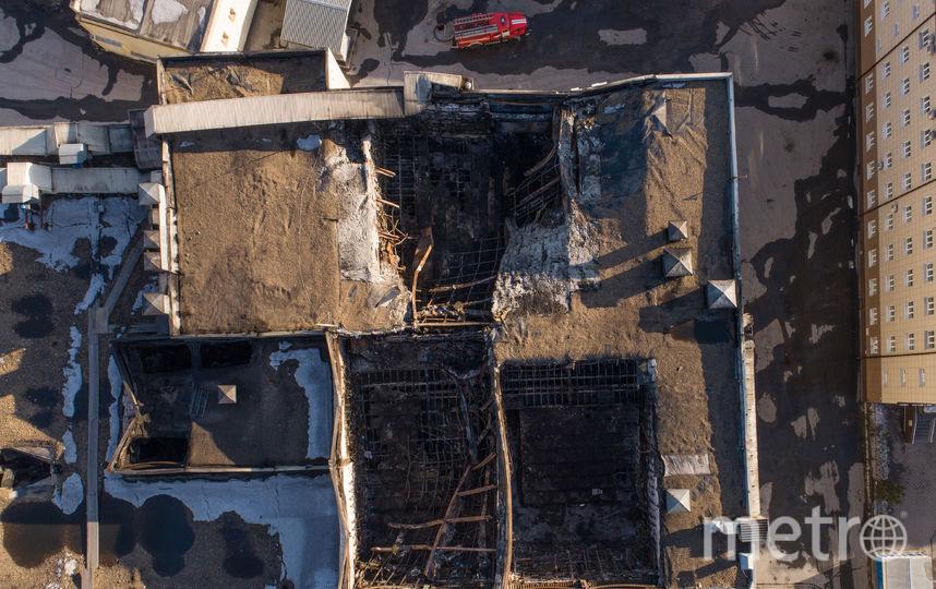 "ТЦ ""Зимняя вишня ""в Кемерово, где произошёл пожар (вид сверху). Фото AFP"