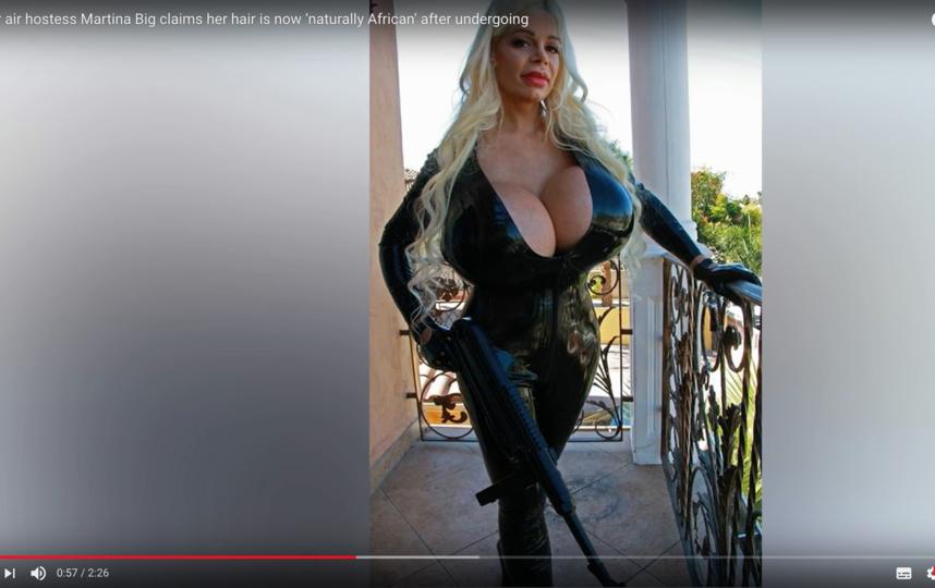 Мартина Блонд (Мартина Биг) до смены цвета кожи. Фото Скриншот Youtube